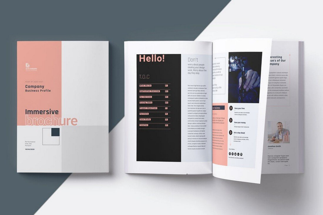 Minimal Company Business Brochure Template