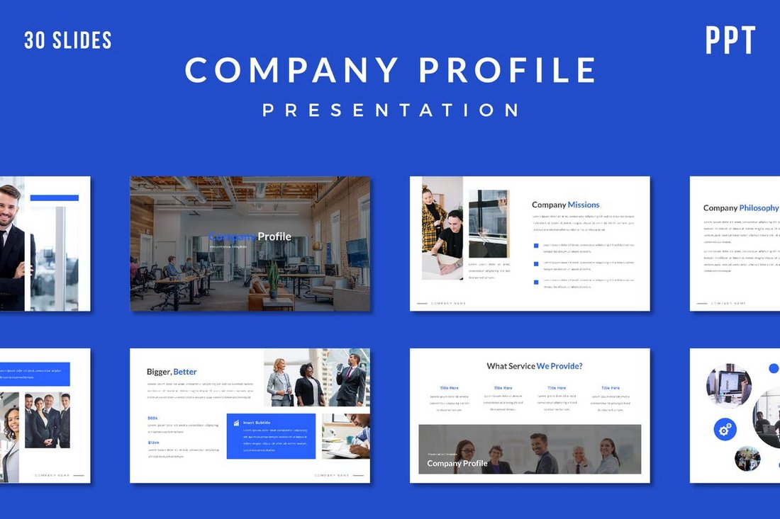 Minimal Company Profile Presentation Template