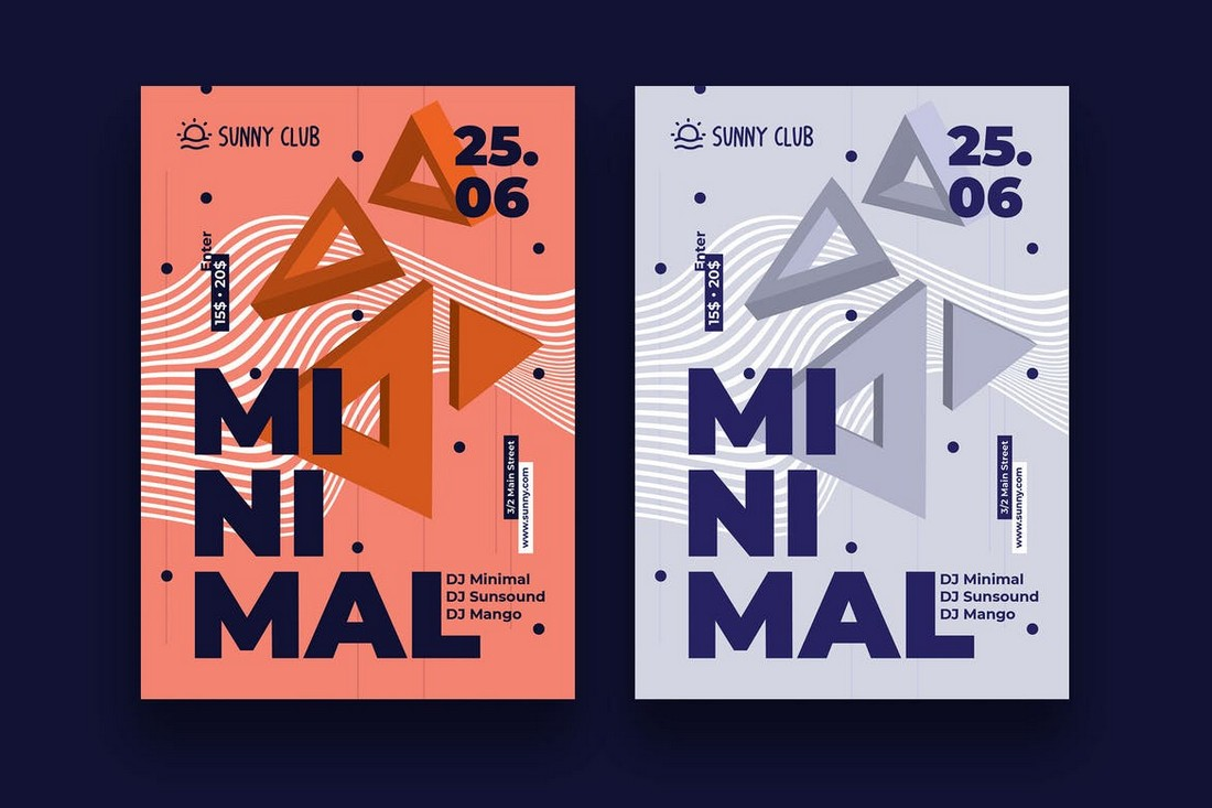Minimal-Event-Party-Poster-Template 10 Minimal Poster Design Examples (+10 Templates) design tips