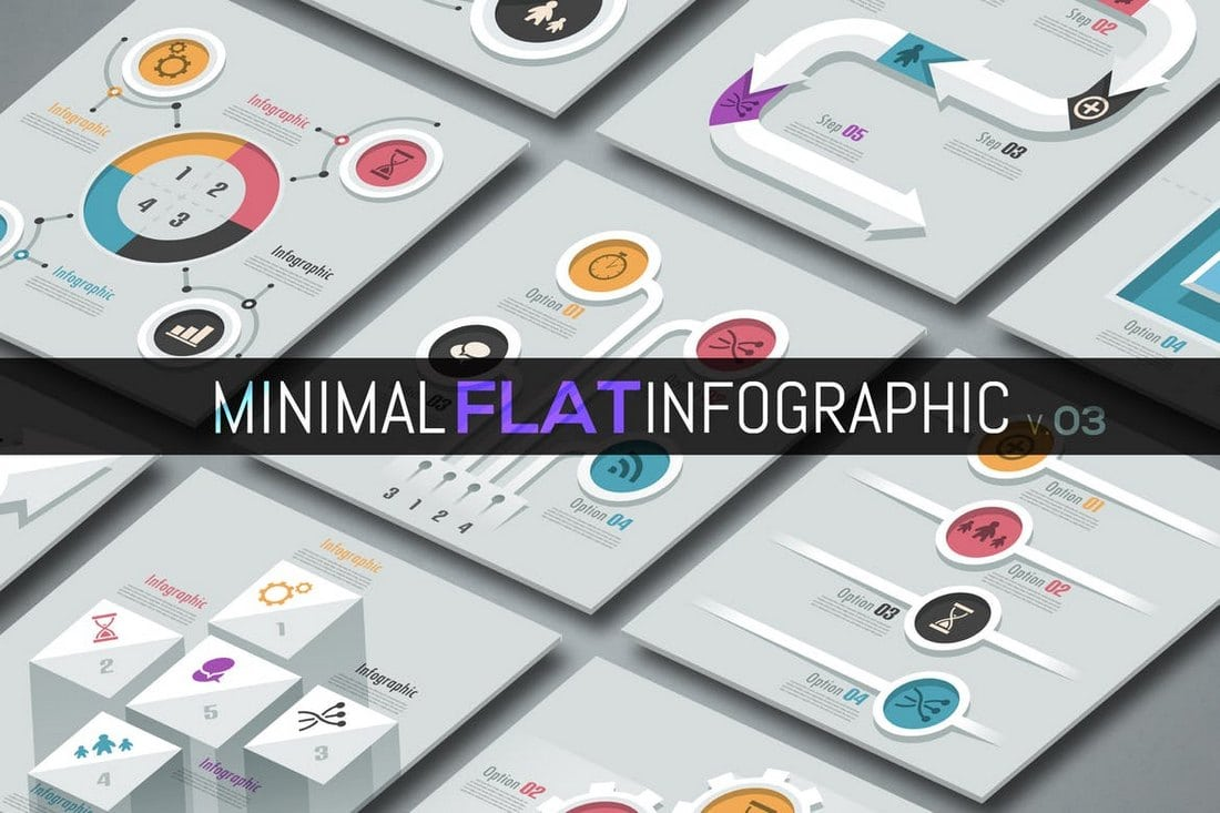 Minimal-Flat-Infographics-v03 40+ Best Infographic Templates (Word, PowerPoint & Illustrator) design tips