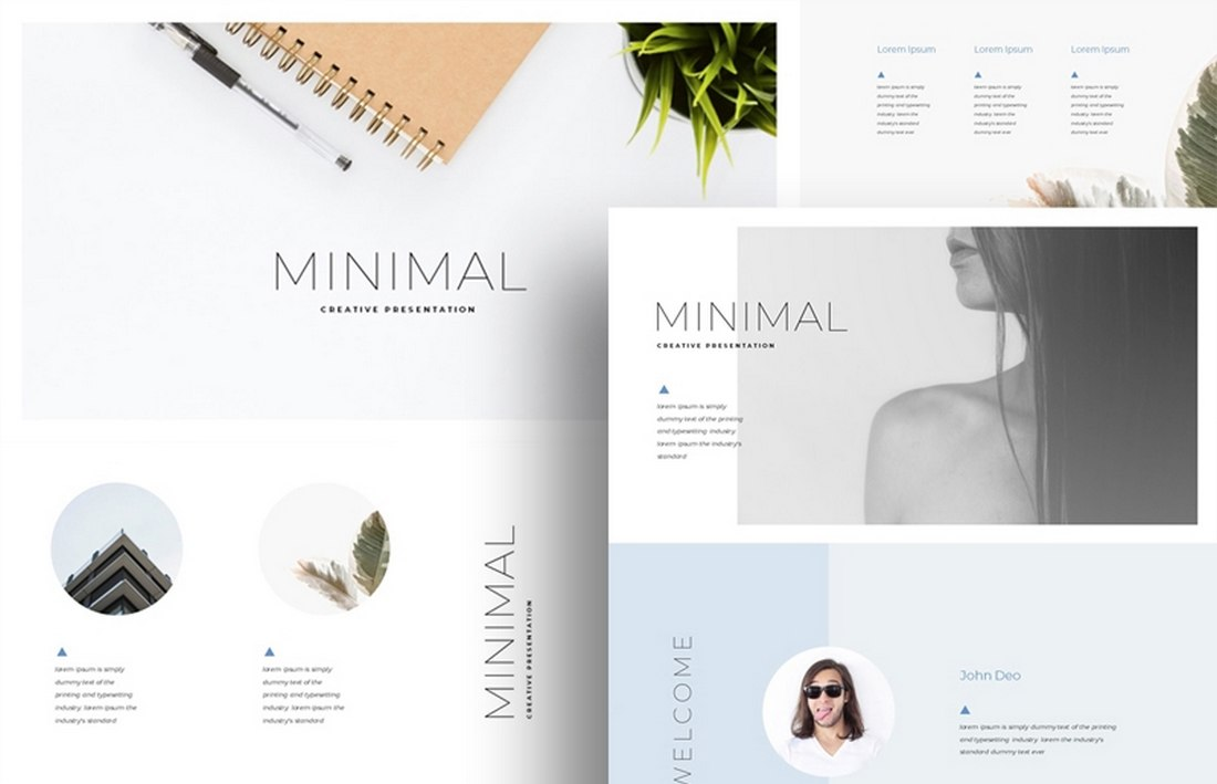 Minimal - Free Clean & Simple Keynote Template