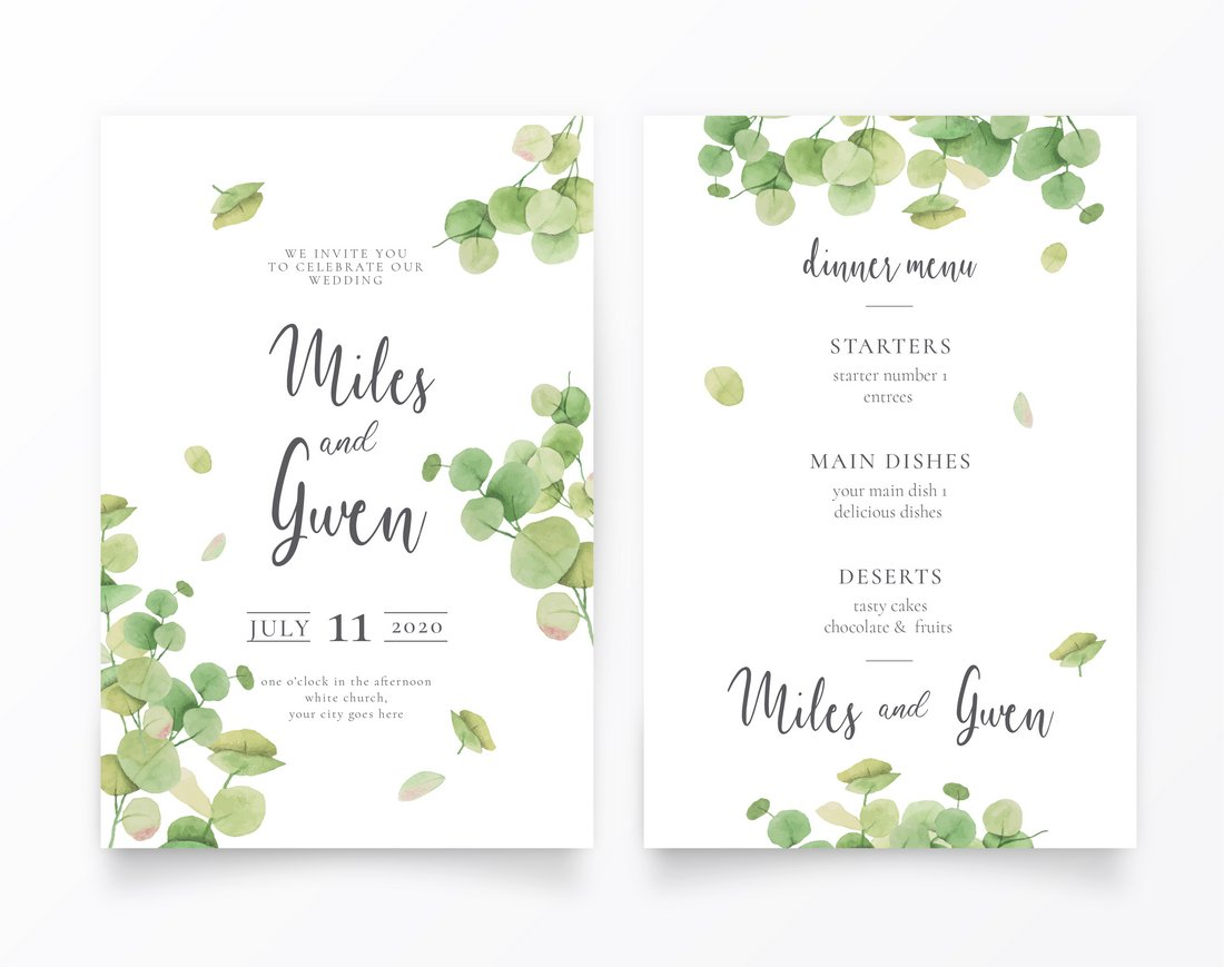 3+ Gorgeous Wedding Invitation Templates  Design Shack