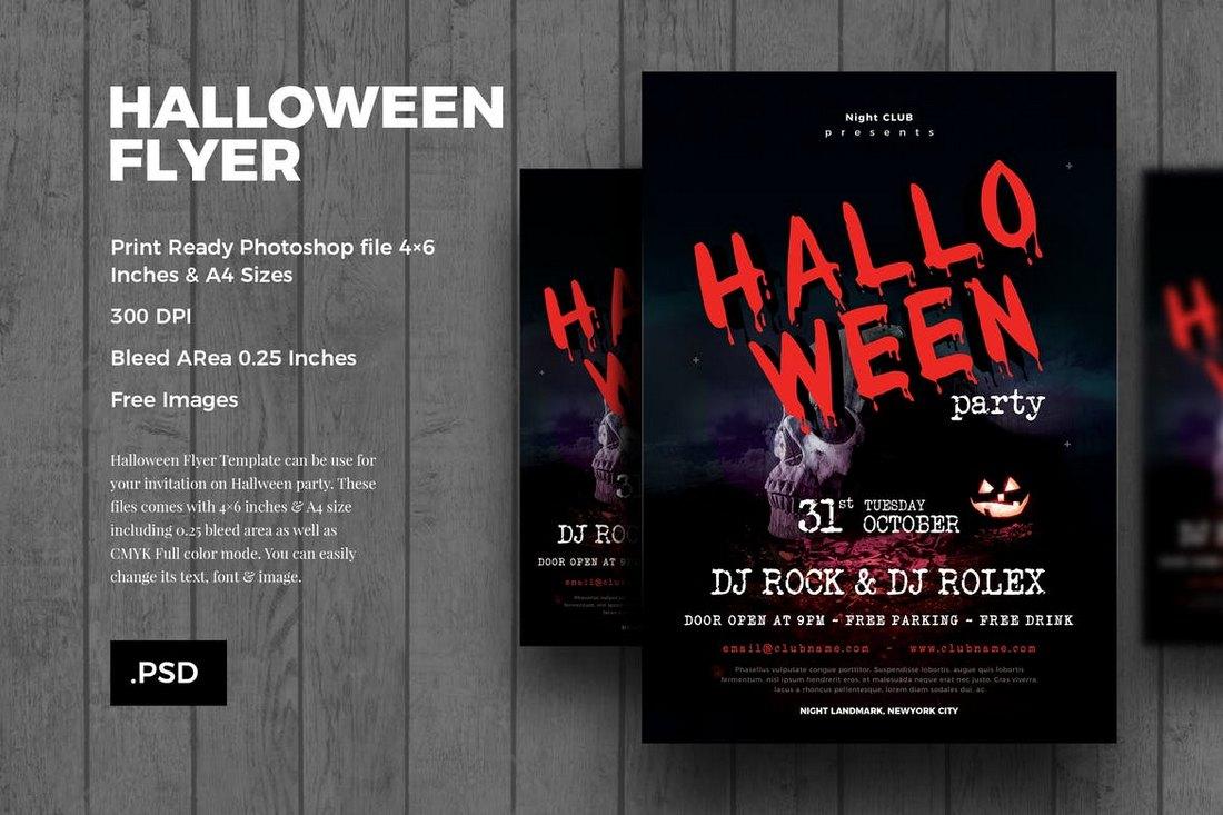 20 Halloween Flyer Templates Design Shack