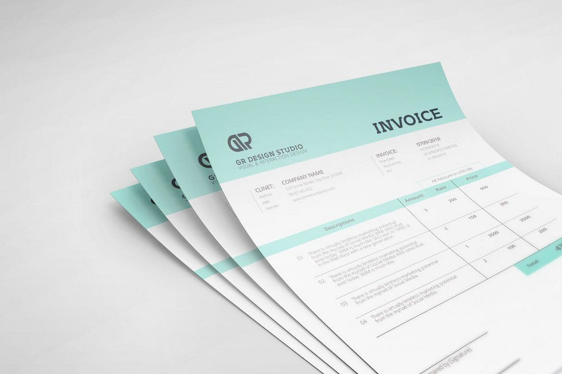 Minimal-Invoice-Template 80+ Modern Stationery Templates design tips