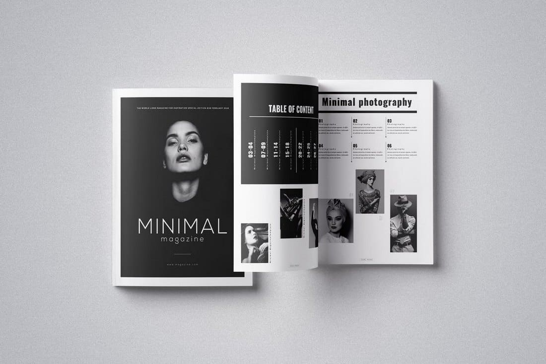 Minimal Magazine InDesign Template