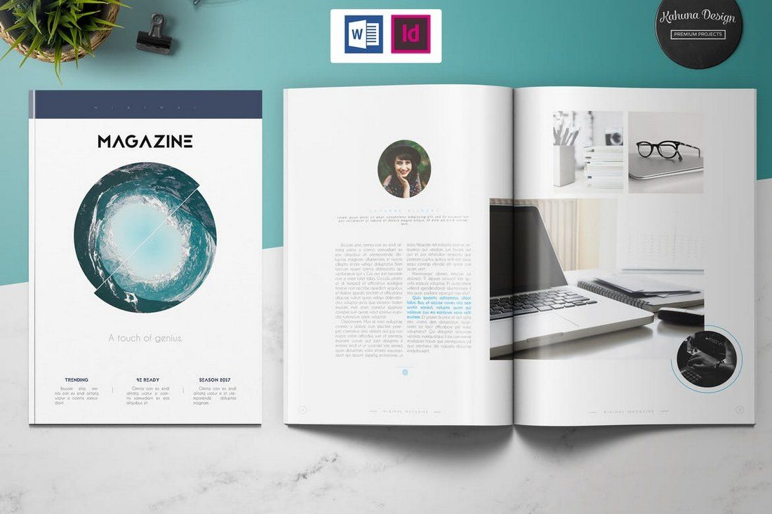 Minimal-Magazine-Template 40+ Best Microsoft Word Brochure Templates 2020 design tips  Inspiration|brochure|templates