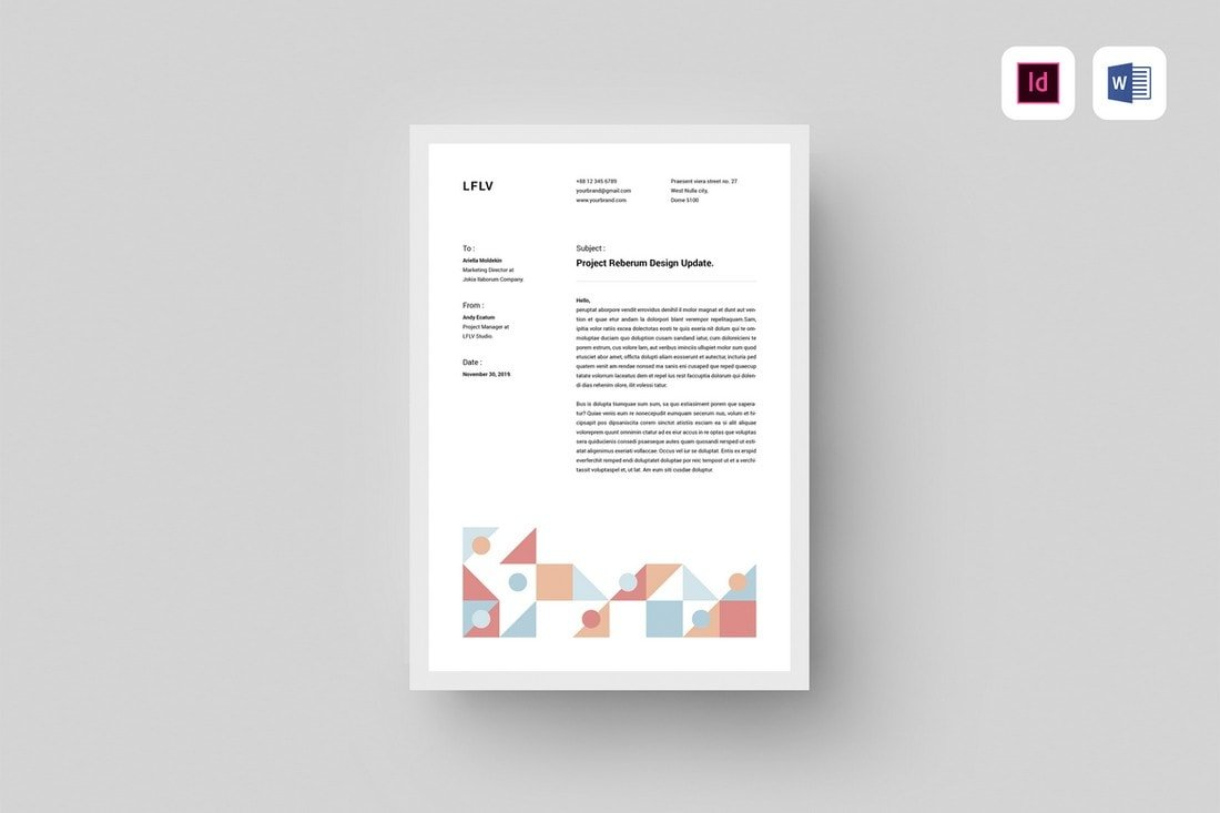 Minimal-Microsoft-Word-Letterhead-Template 20+ Best Microsoft Word Letterhead Templates (Free & Premium) design tips  Inspiration