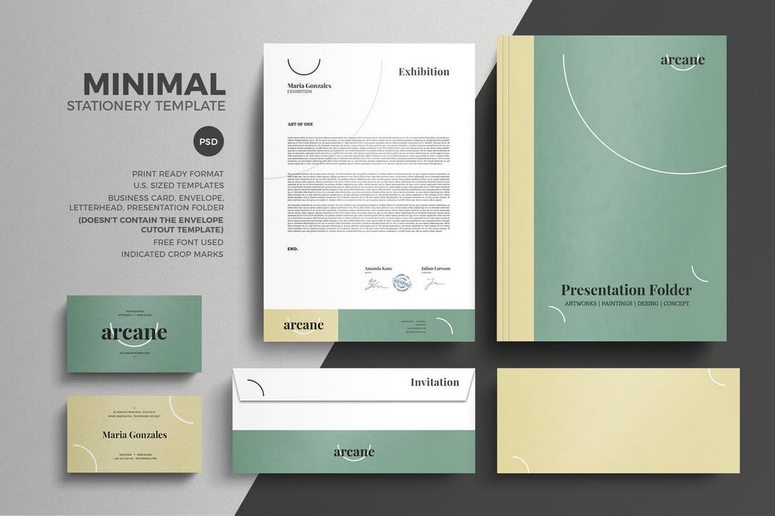 Minimal Pastel Stationery Design Template