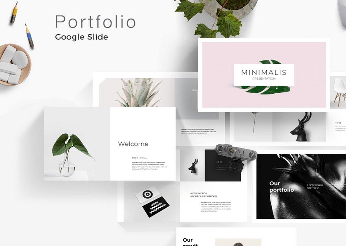 Minimal Portfolio Free Google Slide Template