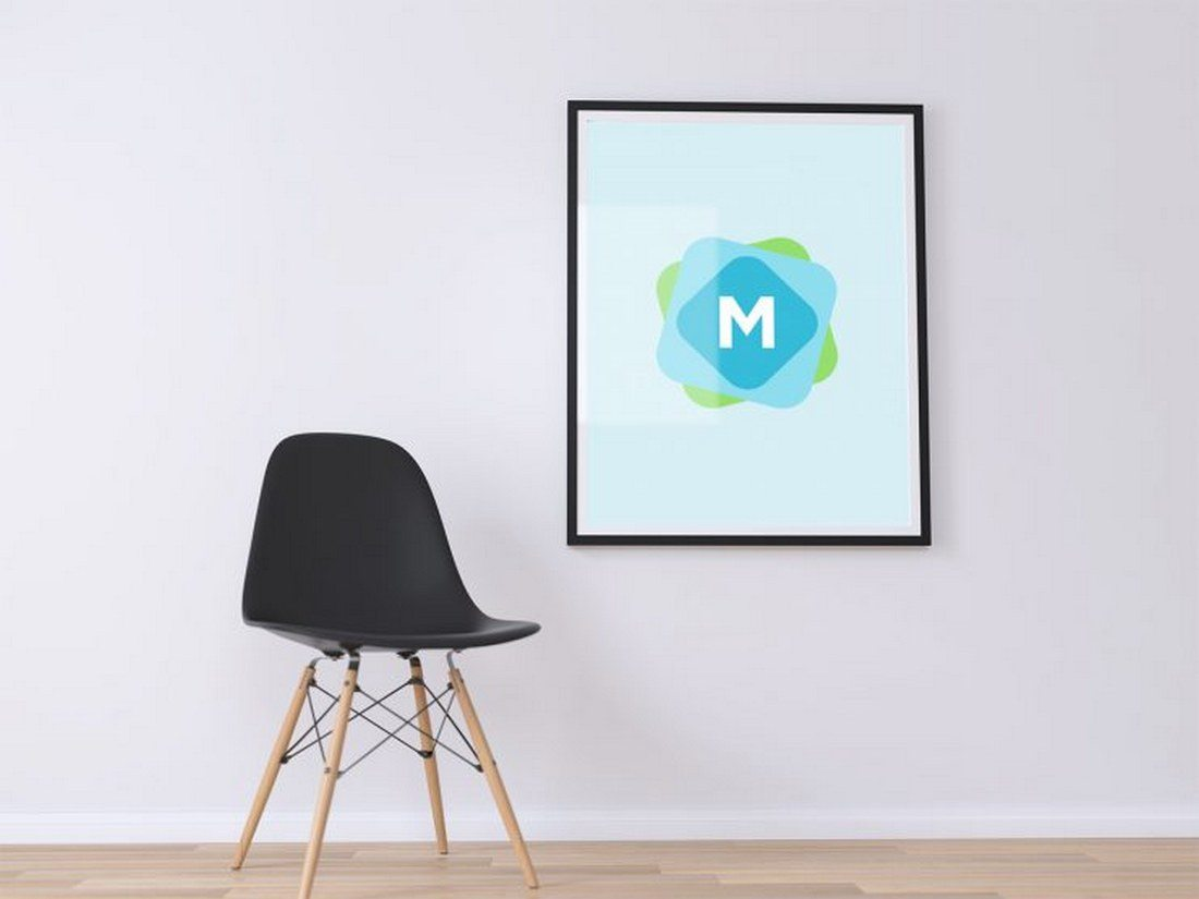 Minimal-Poster-Wall-Mockup-PSD 30+ Best Poster Mockup Templates 2021 design tips