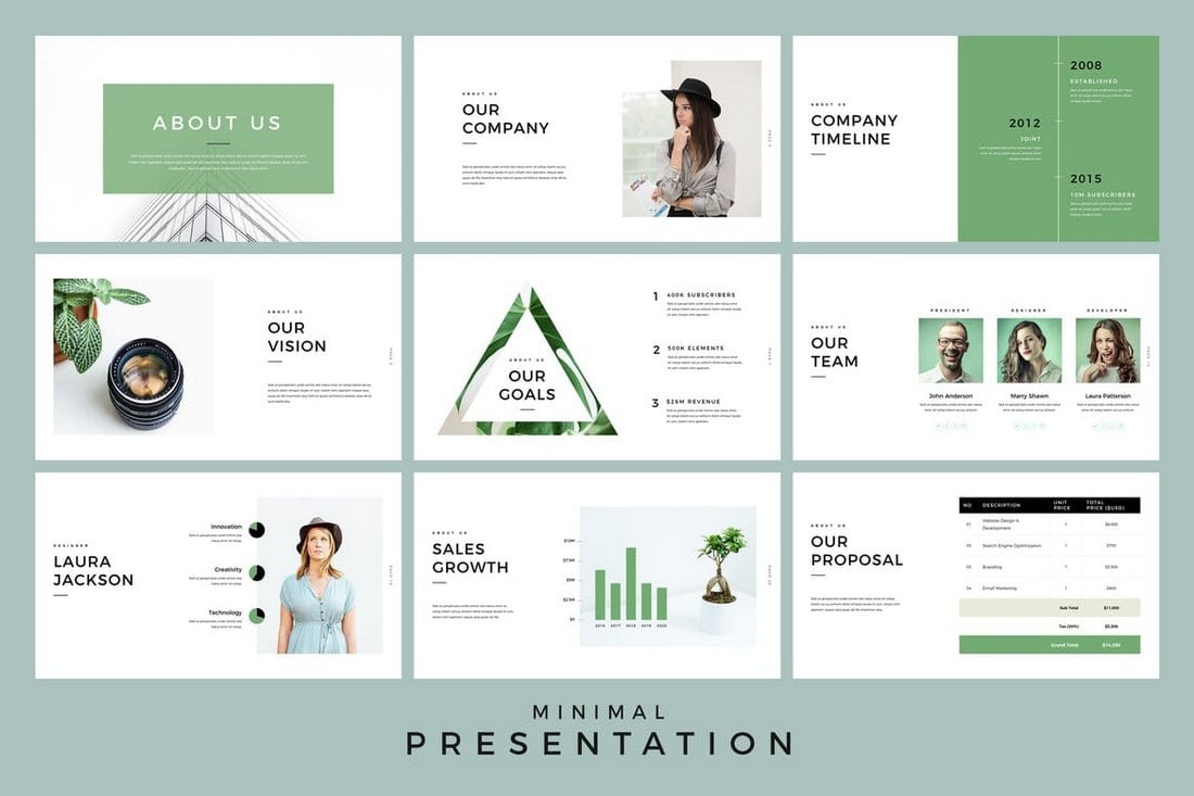 20 modern professional powerpoint templates design shack just as the title suggests this is a minimalist powerpoint template that comes with a total of over 300 slides the template features a modern design that maxwellsz