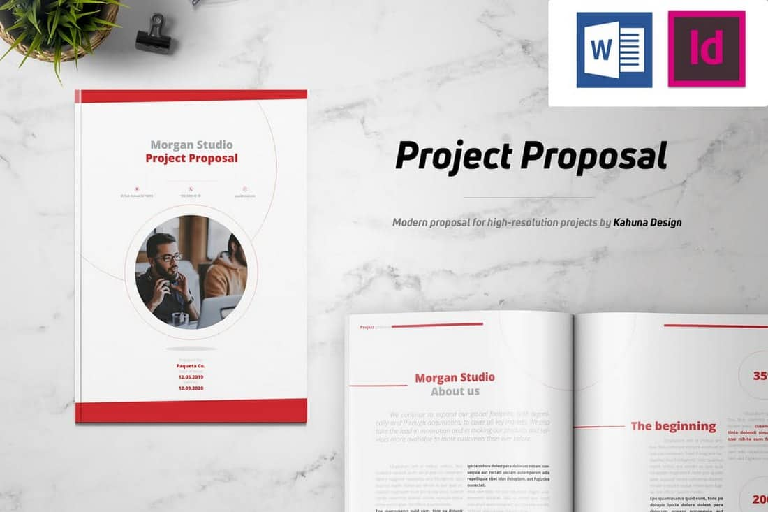 Minimal Project Proposal Brochure Template