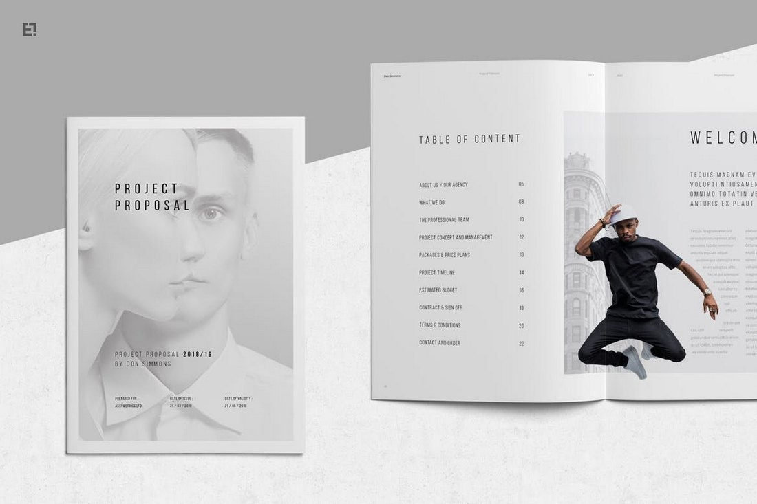 Minimal-Project-Proposal-Word-Brochure-Template 40+ Best Microsoft Word Brochure Templates 2020 design tips  Inspiration|brochure|templates