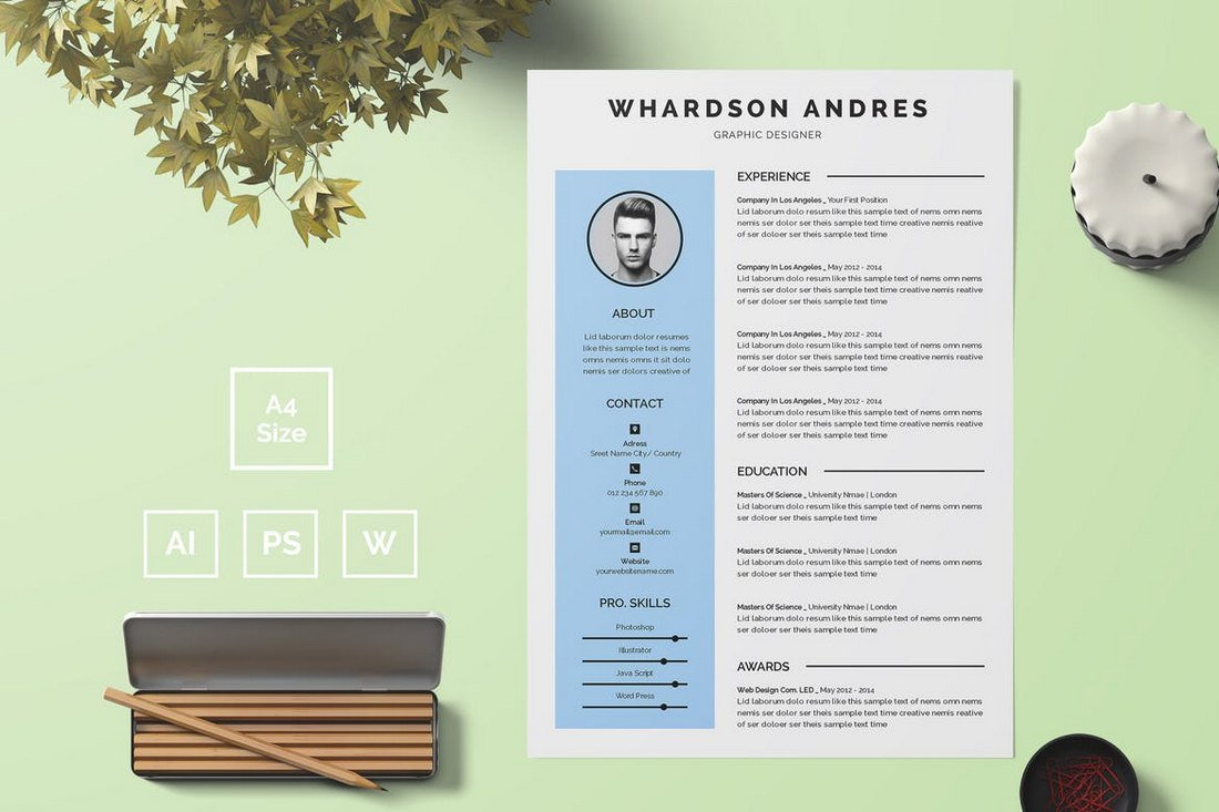 Minimal-Resume-Template 50+ Best CV & Resume Templates 2020 design tips
