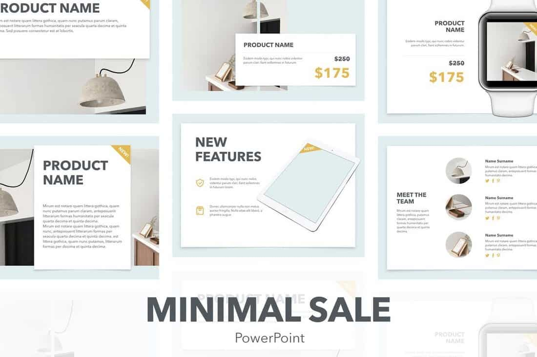 Minimal Sale - Professional PowerPoint Template