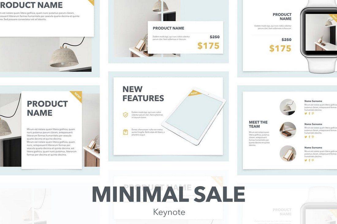 Minimal-Sales-Keynote-Template 30+ Best Minimal & Creative Keynote Templates design tips