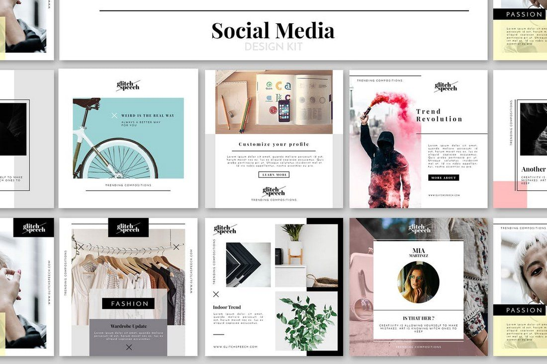 40 Best Social Media Kit Templates Graphics Design Shack
