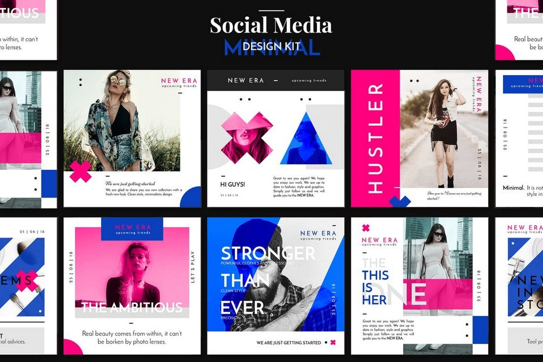 Minimal-Social-Media-Design-Pack 30+ Best Instagram Templates & Banners design tips