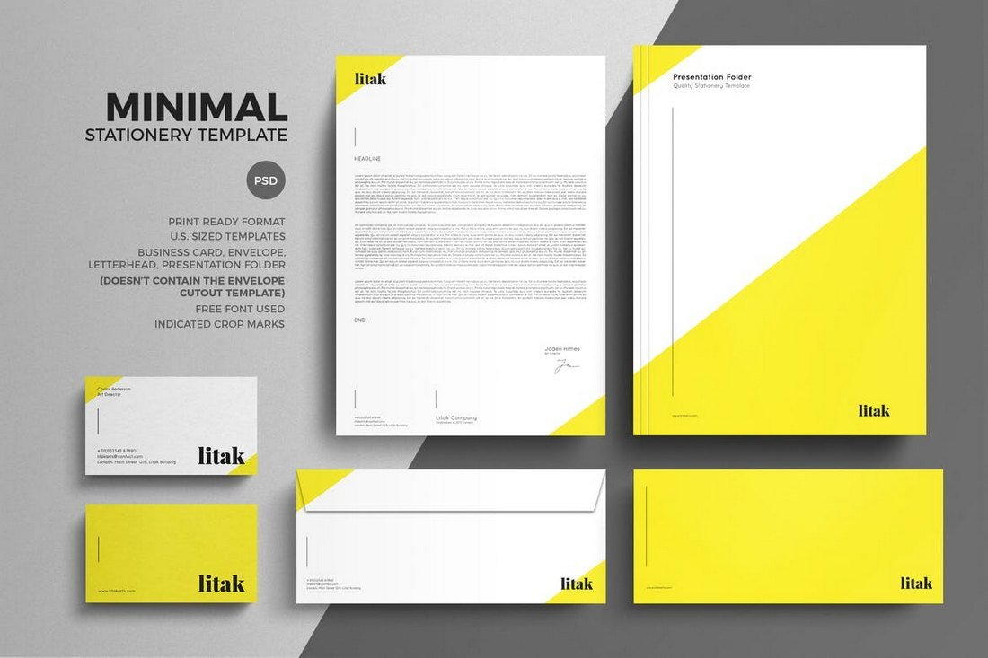 80 modern stationery templates design shack minimal stationery design template friedricerecipe Images