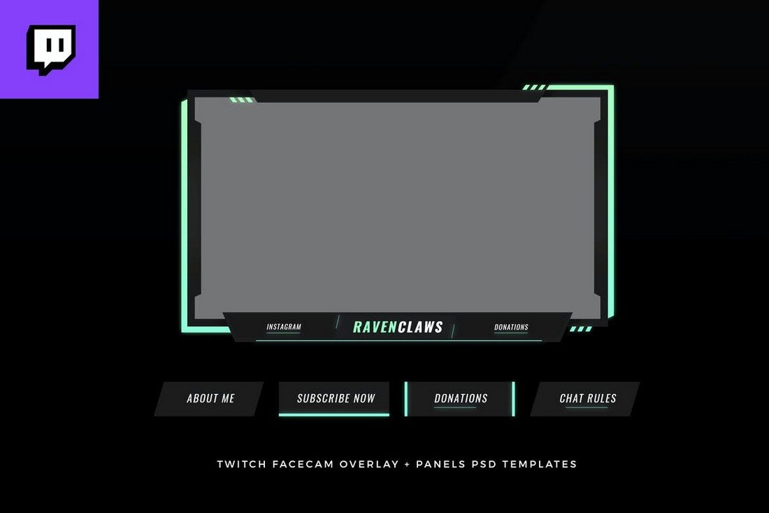Minimal-Twitch-Stream-Overlay-Template 15+ Best Twitch Stream Overlay Templates in 2020 (Free & Premium) design tips
