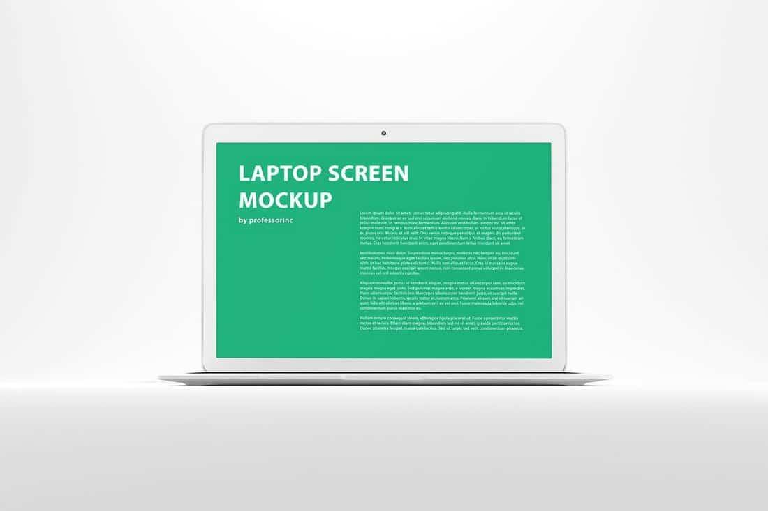 Minimal White MacBook Mockup