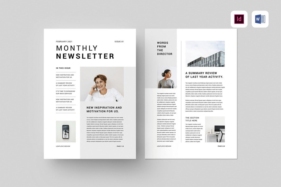 Minimal Word Newsletter Template