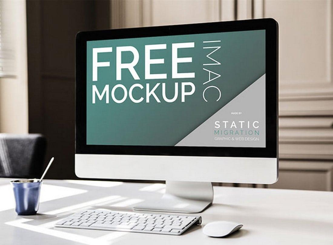 Minimal-iMac-Free-Mockup-Template 40+ iMac Mockup PSDs, Photos & Vectors design tips