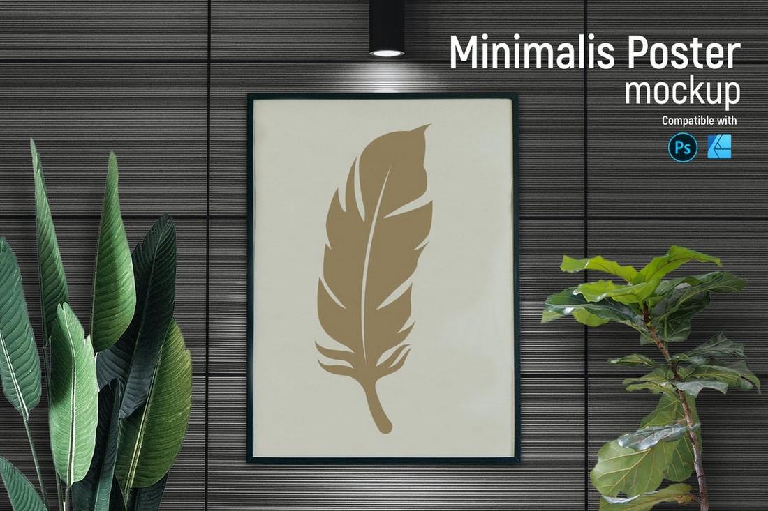 Minimalis Poster Mockup for Affinity Designer