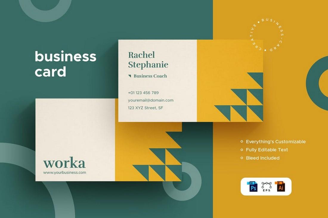 Minimalist Business Card Design for Creatives