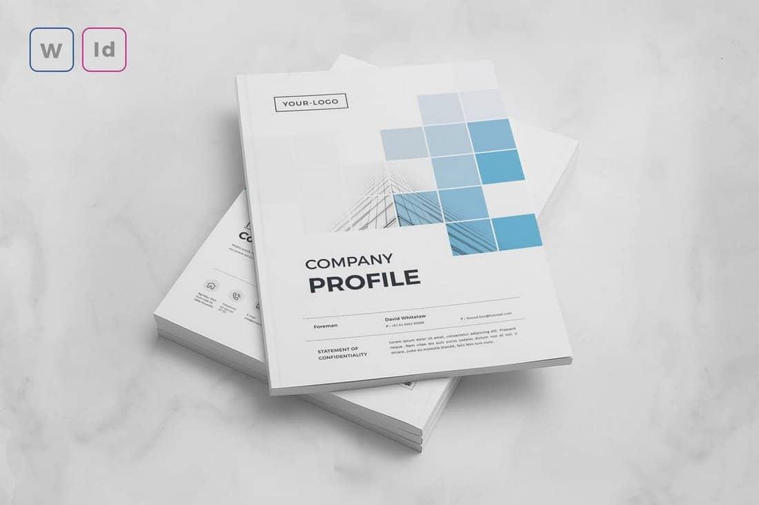 Minimalist Company Profile Word Template