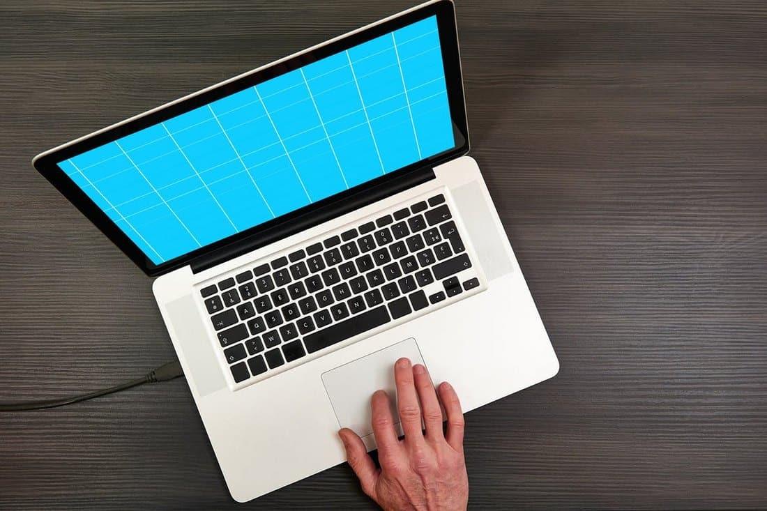 Minimalist Laptop Mockup Template