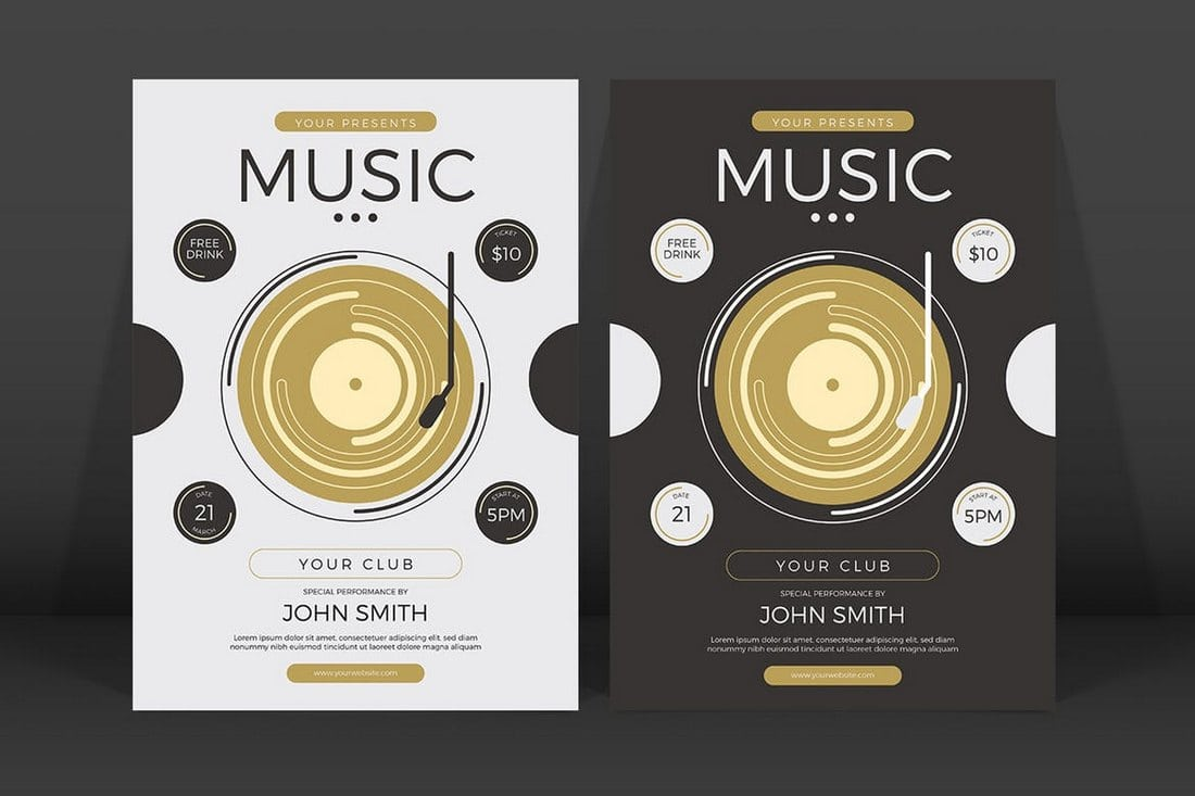 Minimalist-Music-Event-Flyer 20+ Best Event Flyer Templates design tips