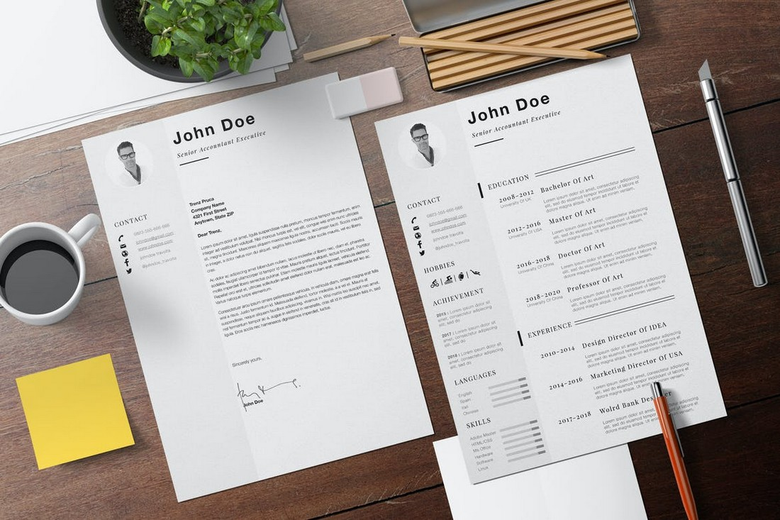 Minimalist Resume Template for Apple Pages