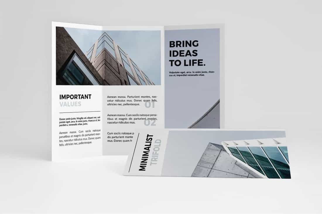 Minimalist Trifold Brochure Template
