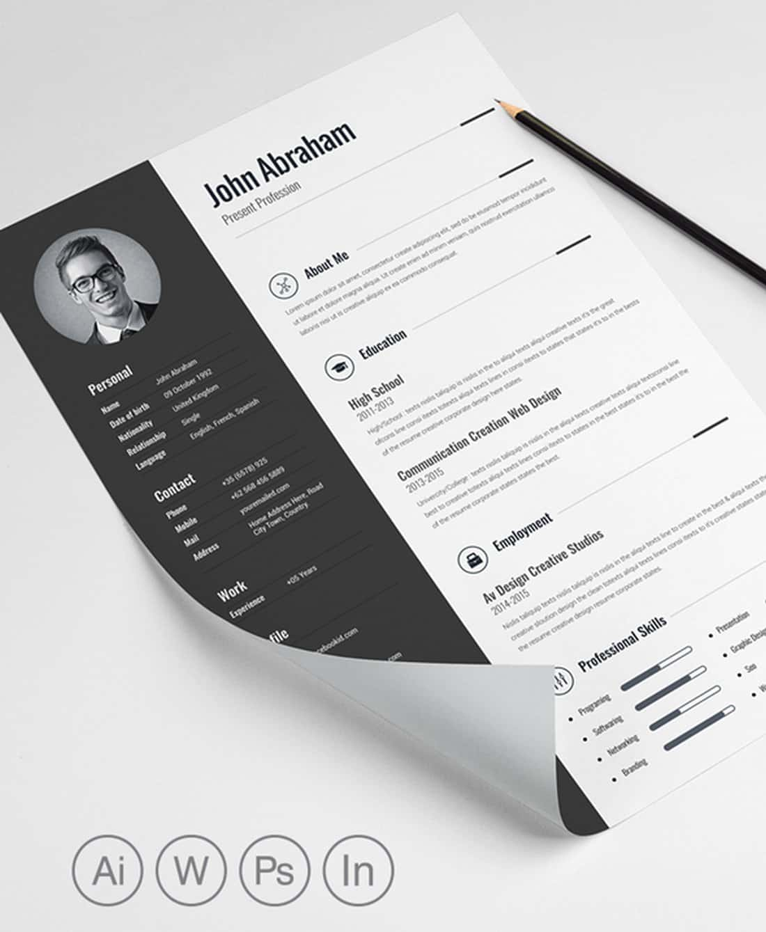 Minimalist Word Resume Template