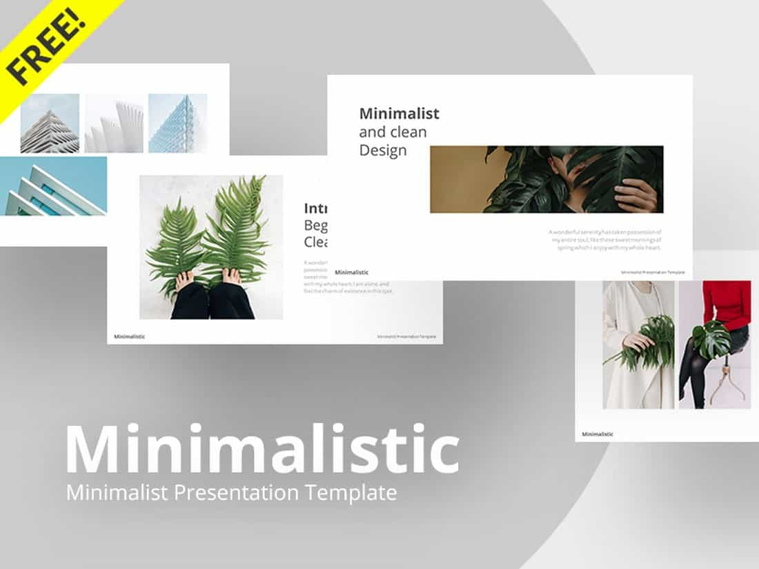 Minimalistic - Free Clean PowerPoint Template