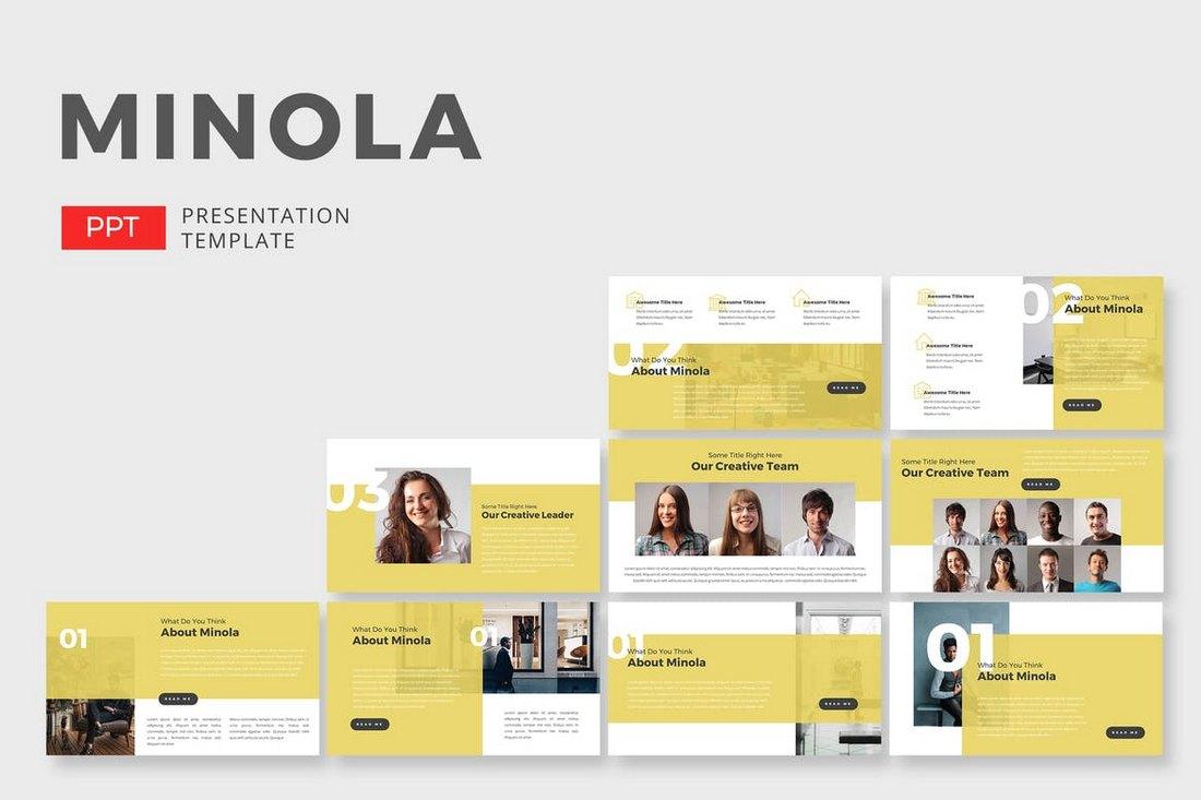 Minola Business - Creative Powerpoint Template