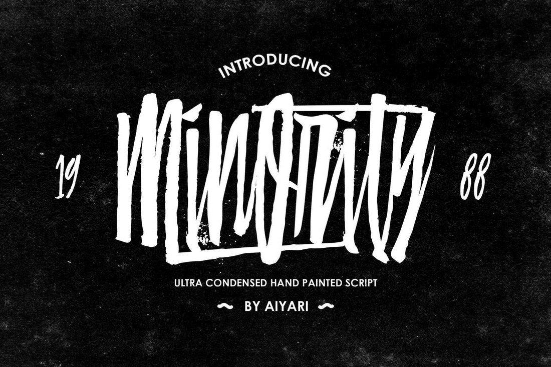 Minority-Condensed-Script-Font 50+ Best Condensed & Narrow Fonts of 2020 design tips