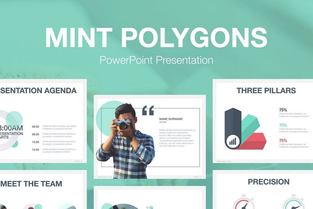 60 beautiful premium powerpoint presentation templates design shack mint polygons powerpoint template price envato elements subscription toneelgroepblik Gallery