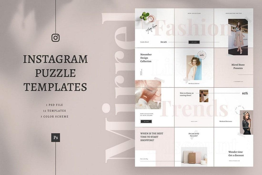 Mirrel - Puzzle Instagram Feed Templates