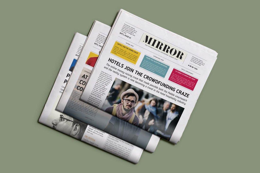 Mirror-School-Newspaper-Template 20+ School Newsletter Templates design tips