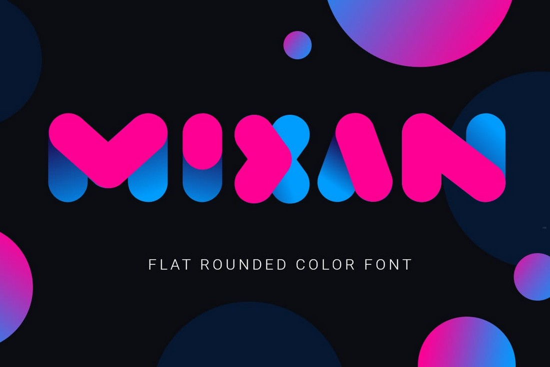 Mixan - Rounded Thick Color Font
