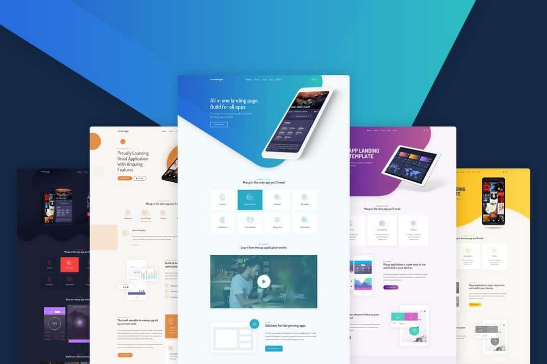 Mixup-App-Landing-Page-HTML-Template 50+ Best App Landing Page Templates 2021 design tips