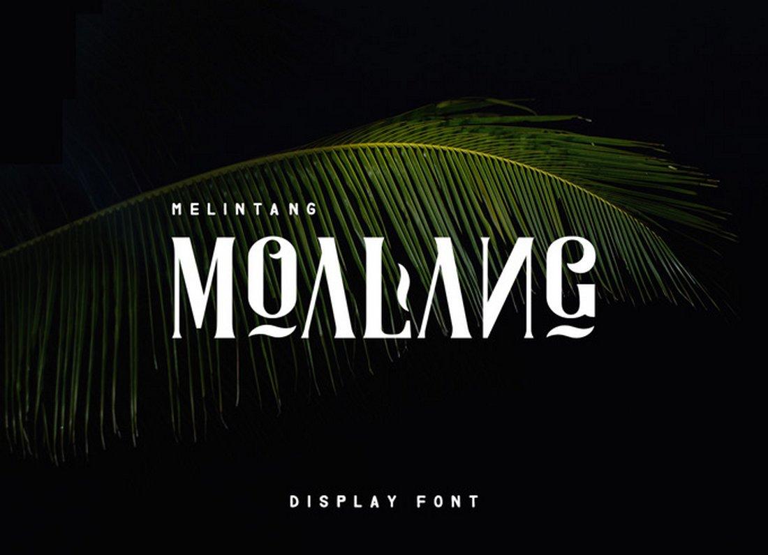 Moalang - Free Display Font