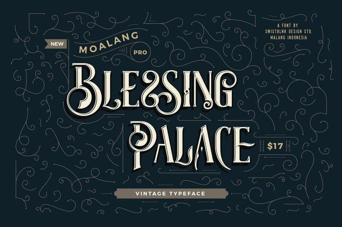 Moalang Pro - Vintage Font & Ornaments
