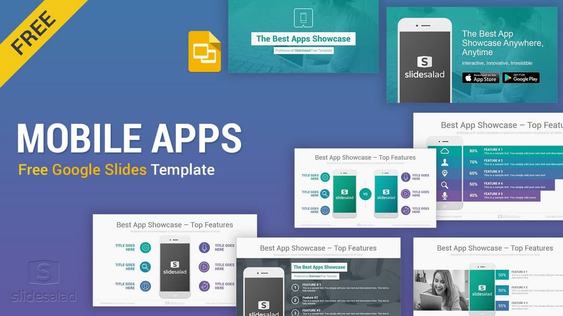 Mobile Apps - Free Google Slides Presentation