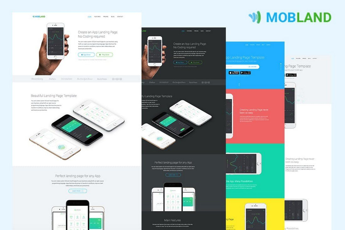 Best App Landing Page Templates Design Shack - Website landing page templates