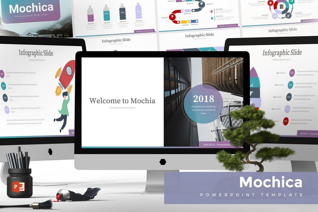 Mochica-Powerpoint-Template 20+ Modern Professional PowerPoint Templates design tips