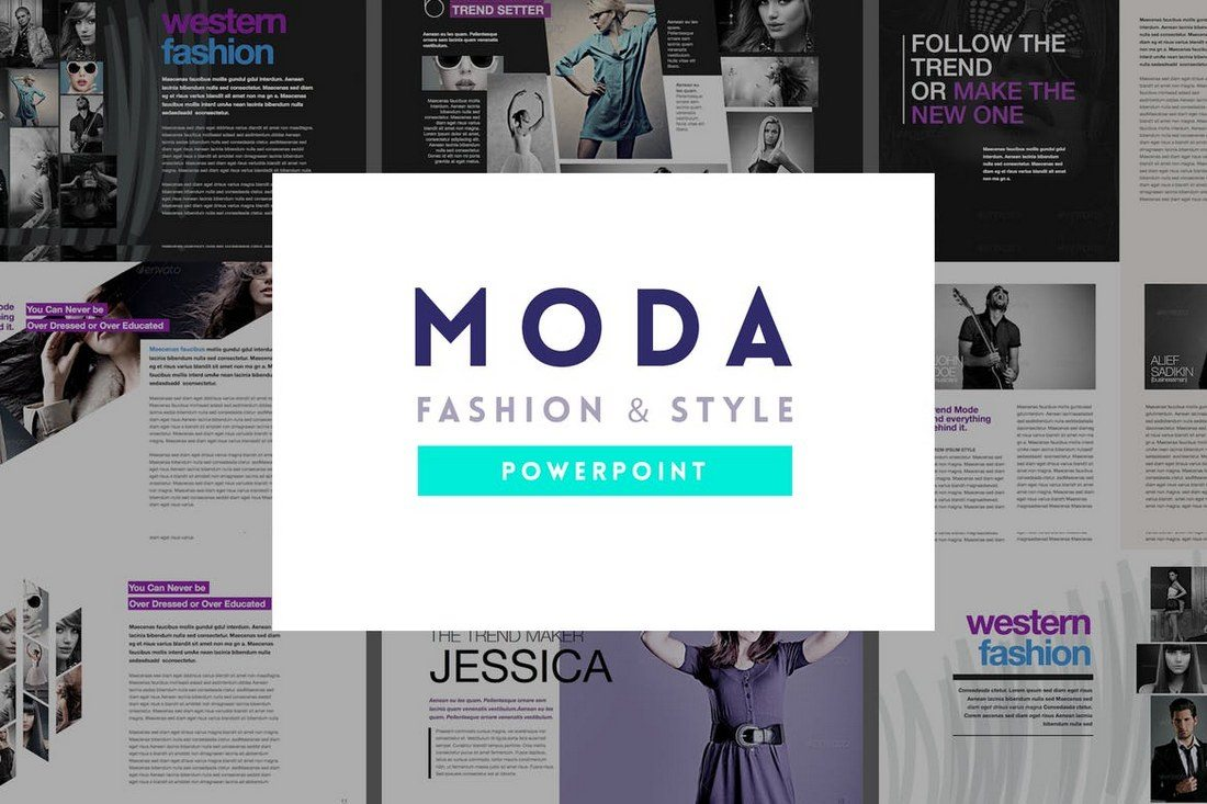 20 best powerpoint templates of 2018 design shack moda is a fully customizable powerpoint template that comes with over 40 unique slides in light dark and light green color themes toneelgroepblik Choice Image