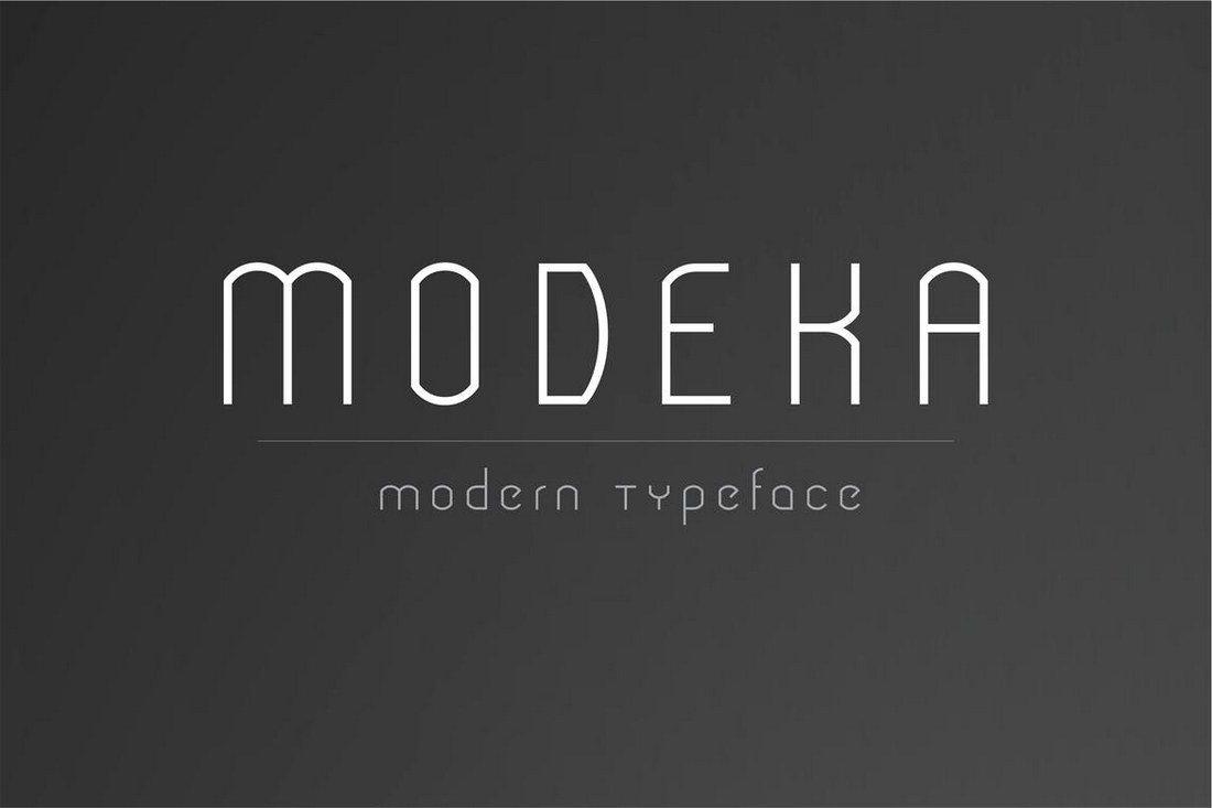 Modeka-Modern-Font 30+ Best Modern & Futuristic Fonts 2021 design tips